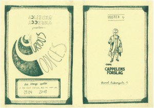 Invitasjon til utstillingen Cabinet of Curious Codices på Cappelens Forslag 25.- 26. april 2014