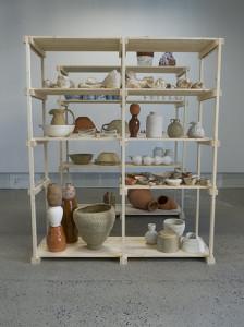 Victoria Günzler, installasjon på galleri seilduken